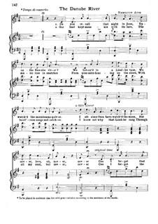 The Danube River: Para vocais e piano by Charles Hamilton Aide