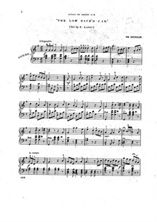 Scraps of Melody for Young Pianists, Op.23: No.2 The Low Back'd Car by William Dressler