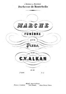 Marche funèbre (Funeral March) for Piano, Op.26: para um único musico (Editado por H. Bulow) by Charles-Valentin Alkan