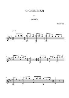 Forty-Three Ghiribizzi, MS 43: Ghiribizzo No.1 by Niccolò Paganini