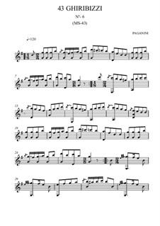 Forty-Three Ghiribizzi, MS 43: Ghiribizzo No.6 by Niccolò Paganini