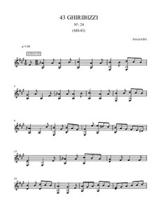 Forty-Three Ghiribizzi, MS 43: Ghiribizzo No.24 by Niccolò Paganini