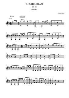 Forty-Three Ghiribizzi, MS 43: Ghiribizzo No.30 by Niccolò Paganini