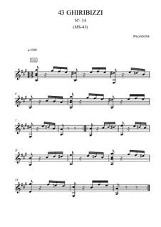 Forty-Three Ghiribizzi, MS 43: Ghiribizzo No.34 by Niccolò Paganini