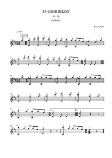 Forty-Three Ghiribizzi, MS 43: Ghiribizzo No.39 by Niccolò Paganini