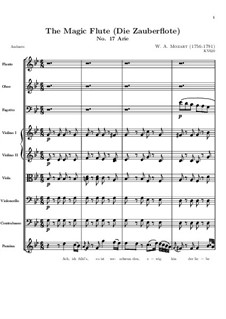 Ah, I Feel it, it is Vanished: Partitura completa by Wolfgang Amadeus Mozart