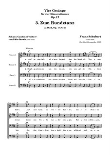 Four Songs for Four Male Voices, D.983 Op.17: Nr.3 Zum Rundetanz by Franz Schubert