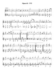 Three Easy Duets for Two Guitars, Op.61: Dueto No.1 by Fernando Sor