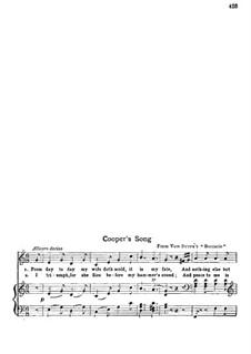Boccaccio: Cooper's Song, for voice and piano by Franz von Suppé