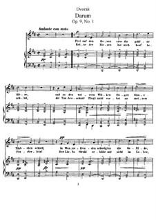 Four Songs, Op.9: quatro musicas by Antonín Dvořák