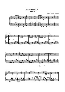 El Capitan. March: Para Piano by John Philip Sousa