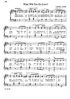 What Will You Do, Love: Partitura piano-vocal by Samuel Lover
