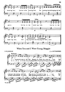 When You and I were Young, Maggie: para piano (F maior) by James A. Butterfield
