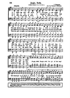 Jingle Bells: For voices and choir by James Lord Pierpont