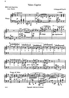 Waltz-Caprice for Piano, Op.16: Waltz-Caprice for Piano by Genari Karganoff