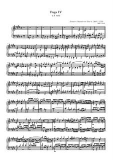 Prelude and Fugue No.4 in C Sharp Minor, BWV 849: fuga by Johann Sebastian Bach