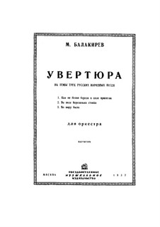 Overture on Three Russian Themes: partitura completa by Mily Balakirev