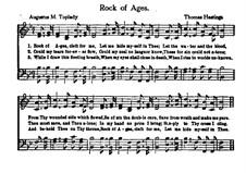 Rock of Ages: partituras de vocais by Thomas Hastings