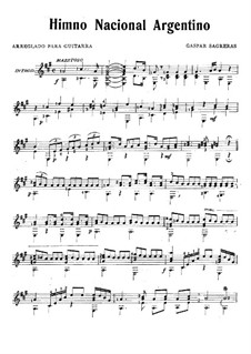 Argentine National Anthem: Argentine National Anthem by Gaspar Sagreras