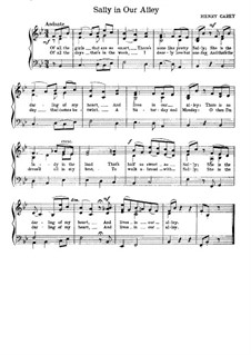 Sally in Our Alley: Partitura Piano-vocal by Henry Carey