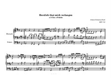 Chorale Preludes, Miscellaneous: Herzlich thut mich verlangen, BWV 727 by Johann Sebastian Bach
