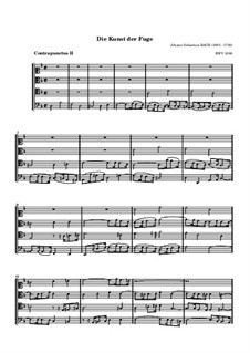 The Art of Fugue, BWV 1080: No.2 by Johann Sebastian Bach
