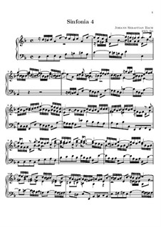 No.4 in D Minor, BWV 790: para teclado by Johann Sebastian Bach