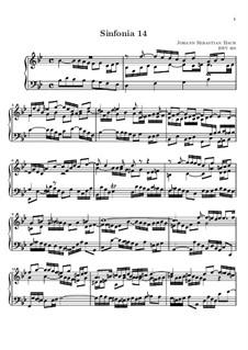 No.14 in B Flat Major, BWV 800: para teclado (partituras de alta qualidade) by Johann Sebastian Bach