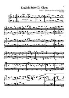 Suite No.2 in A Minor, BWV 807: Giga by Johann Sebastian Bach