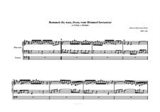 Chorale Preludes II (Schübler Chorales): Come Thou, Jesu, from Heaven to Earth, for Organ, BWV 650 by Johann Sebastian Bach