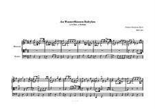 Chorale Preludes III (The Great Eighteen): An Wasserflüssen Babylo für Orgel, BWV 653 by Johann Sebastian Bach
