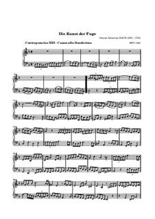 The Art of Fugue, BWV 1080: No.13 by Johann Sebastian Bach