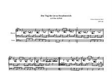 Der Tag, der ist so freudenreich, BWV 605: para orgãos by Johann Sebastian Bach