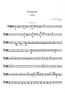 Overture: Parte contrabaixo by Ludwig van Beethoven