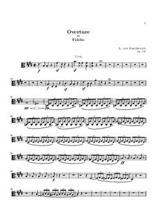 Overture: parte viola by Ludwig van Beethoven