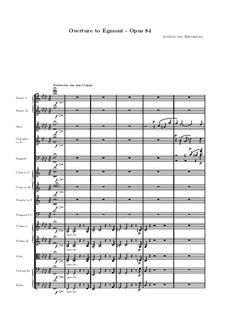 Egmont, Op.84: Partitura completa by Ludwig van Beethoven