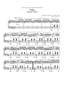 No.1 in D Flat Major: para piano (partituras de alta qualidade) by Frédéric Chopin