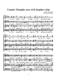Unquiet Thoughts: partituras de vocais by John Dowland