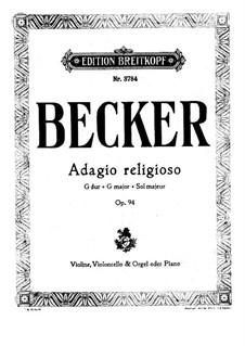Adagio Religioso in G Major, Op.94: Adagio Religioso in G Major by Albert Becker