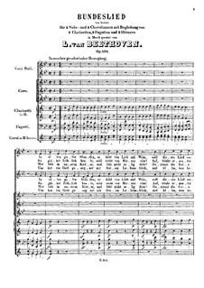 Bundeslied, Op.122: Bundeslied by Ludwig van Beethoven