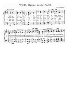 Heilige Nacht O Giesse Du: partituras de vocais by Ludwig van Beethoven