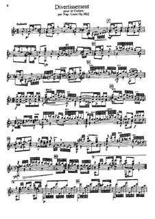 Divertissement in D Minor, Op.28: Para Guitarra by Napoléon Coste