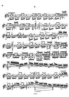 Twenty-Five Etudes, Op.38: Etudes No.9-10 by Napoléon Coste