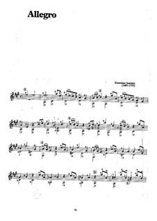 Sonata No.483 in A Major, K.322 L.483 P.360: Para Guitarra by Domenico Scarlatti