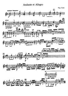 Andante and Allegro: Para Guitarra by Napoléon Coste