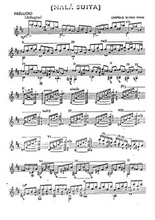 Little Suite for Guitar: Little Suite for Guitar by Silvius Leopold Weiss