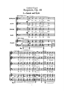 Requiem in D Minor, Op.48: para vozes e piano by Gabriel Fauré