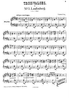 Helvétia. Three Waltzes, Op.17: No.3 Laufenburg by Vincent d' Indy