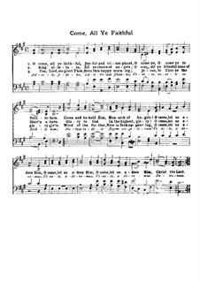O Come All Ye Faithful: para coro by John Francis Wade
