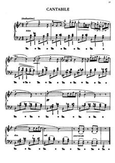 Cantabile in B Flat Major, B.84 KK IVb/6: Para Piano by Frédéric Chopin